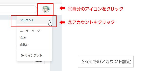 Skebアカウント設定